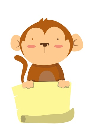 monkey banana Vector