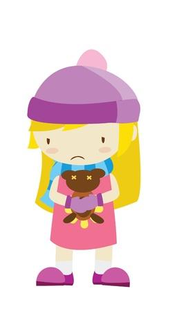 sad girl Stock Vector - 15526781