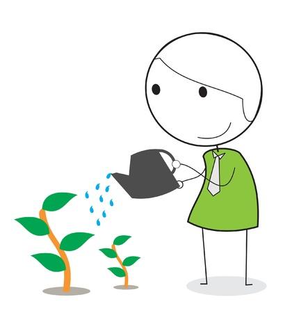 사업가 녹색으로 이동