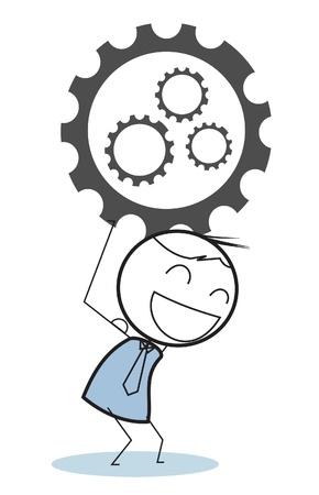 businessman progress gear Stock Vector - 15680823