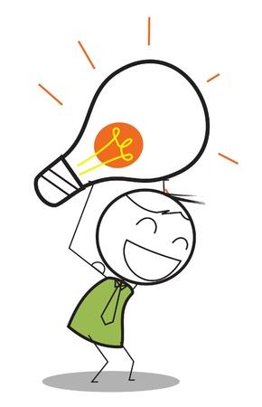 Geschäftsmann Idee Standard-Bild - 15680820