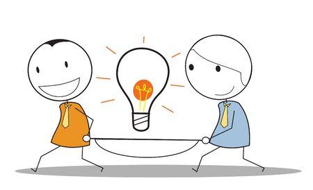 idea businessman teamwork Stock Vector - 15680829