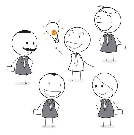 boss cartoon: good idea employee around boss