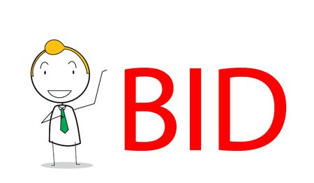 bid�: businessman bid Illustration