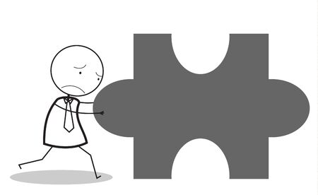 businessman jigsaw sad Vector