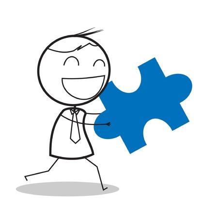 set of businessman: businessman jigsaw Illustration