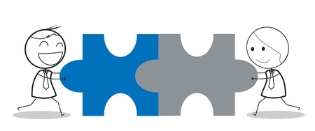 Geschäftsmann jigsaw Standard-Bild - 16247919