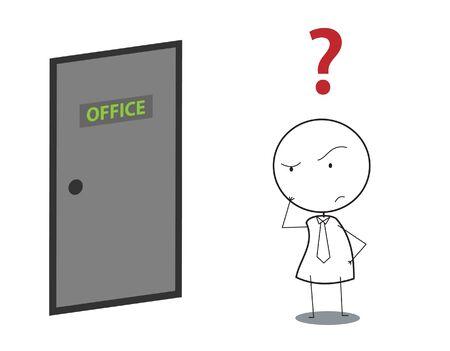 empresario cuestión puerta