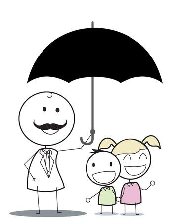 kid insurance  Stock Vector - 16755949