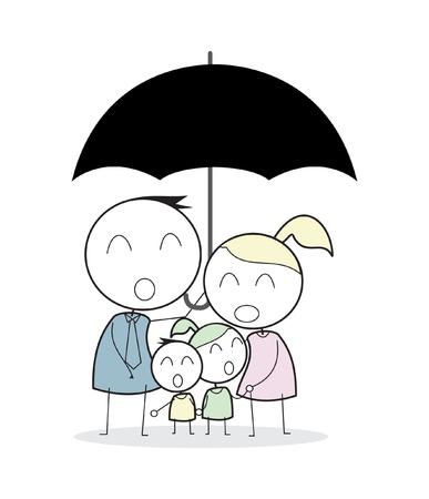 familiale verzekering Vector Illustratie