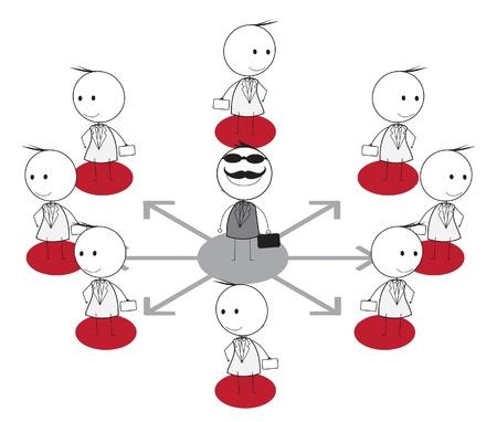 tree plan: business link Illustration
