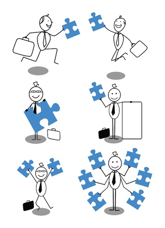 Businessman Cooperation Stock Vector - 18081906