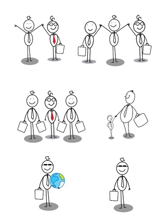 professional relationship: Businessman Collection set Illustration