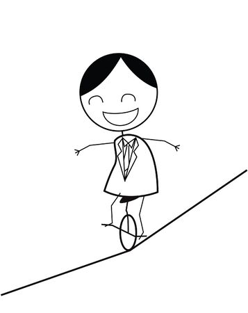 dizziness: businessman rope