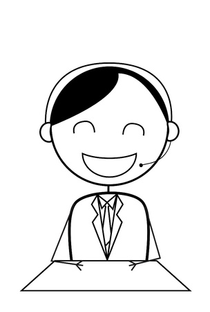 sales representative: businessman service center Illustration