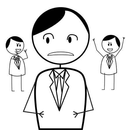 disagree: businessman conflict