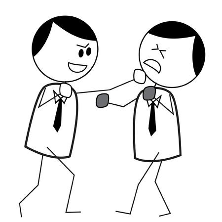 argument: zakenman strijd Stock Illustratie