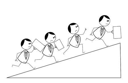 worried executive: business run Illustration