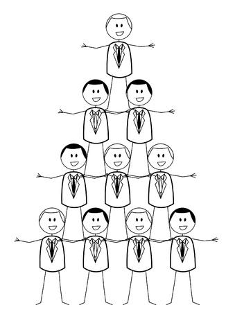 tree diagram: organizzazione aziendale Vettoriali