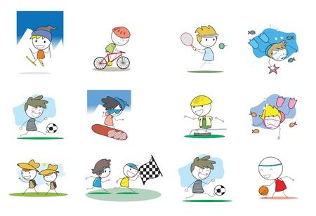 Kids Activity Illustration