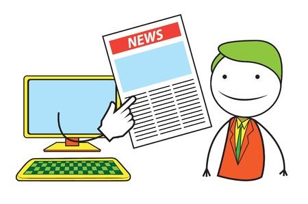 news online: News Online Illustration