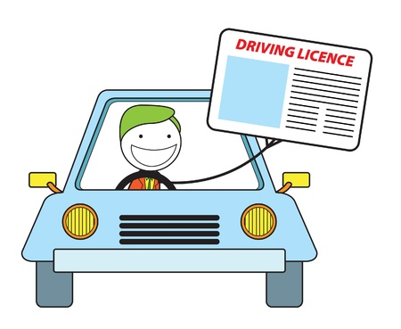 empty wallet: driving licence