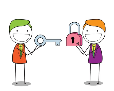 businessman padlock  Vector