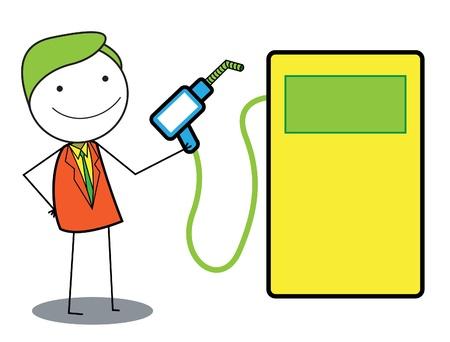 gas man: man gas oil