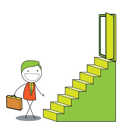 man stairs Stock Vector - 20163608
