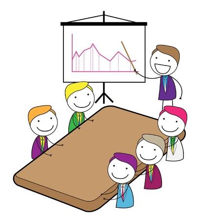 teamleider: vergadering presentatie