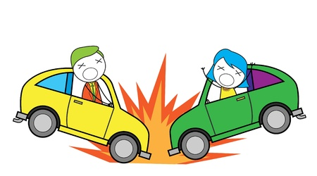 cartoon accident: car accident