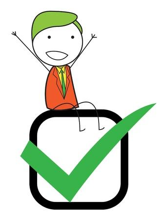 man checklist Stock Vector - 20628311