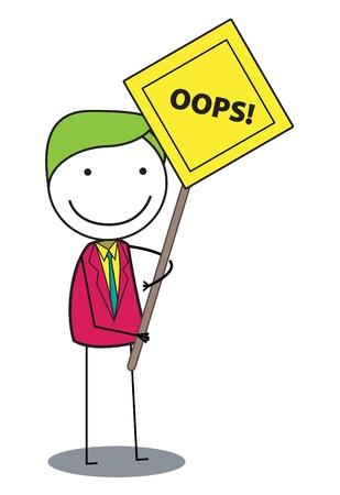 error message: man oops Illustration