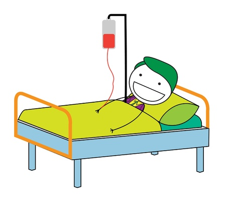 sintoma: homem doente