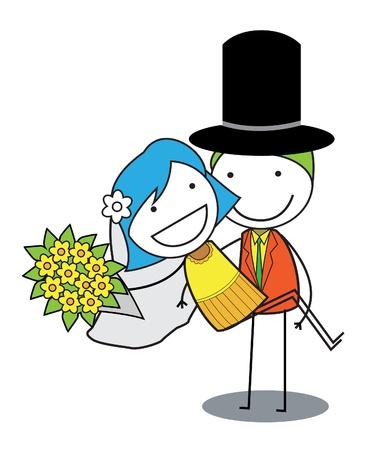 bridal veil: couple wedding