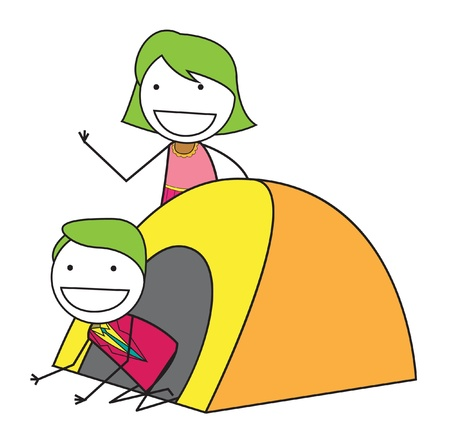 couple tent Vector