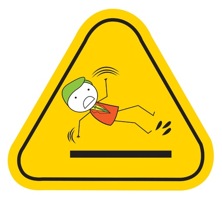 slippery warning symbol: slippery slipping