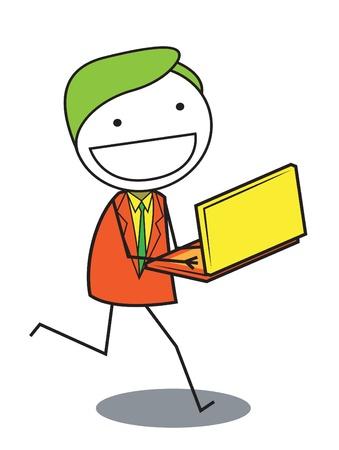 man shop online Stock Vector - 20861246