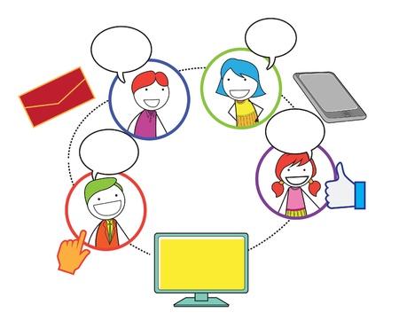 Menschen in sozialen Netzwerken Standard-Bild - 20861257