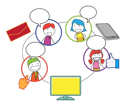 social network people Illustration