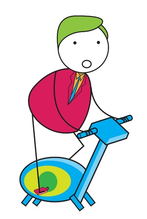 bicycle exercise Vector