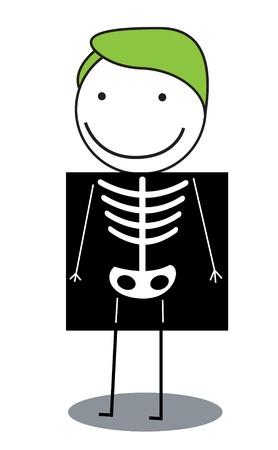 boy doctor: x ray body