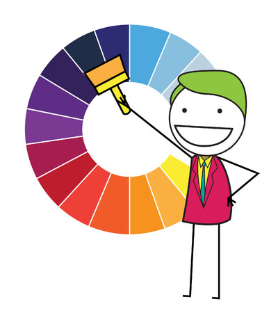 color swatches: color chart Illustration