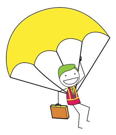 parachuter: sky diving