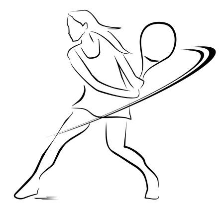 tennis woman player symbol
