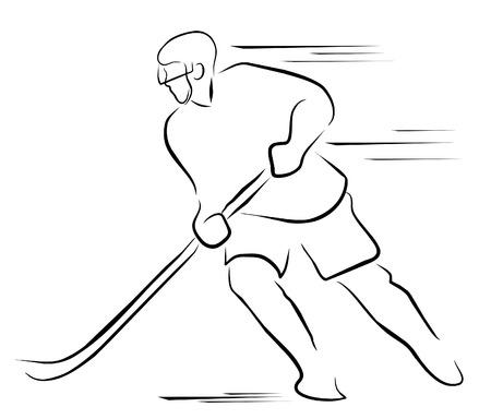 hockey goalie: hockey player Illustration