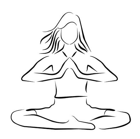 vector illustration yoga player symbol Stock Vector - 24020159