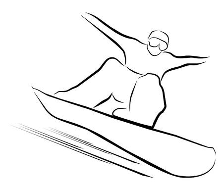 snowboard symbol  Vector