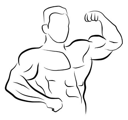 human arms: body builder symbol  Illustration