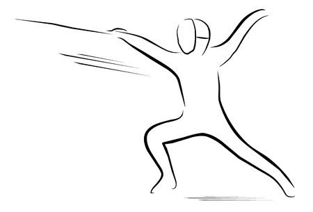 fencing: fencing player symbol  Illustration